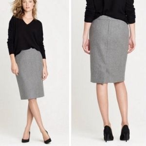 NWT J. Crew Factory Light Grey Wool pencil skirt